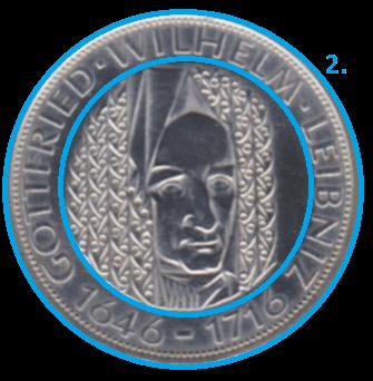 Ausgabe einer Münze Randschrift