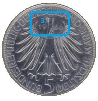 Jahreszahl einer Münze
