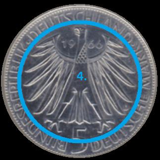 Hoheitssymbol einer Münze