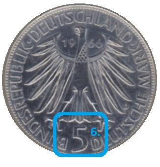 Nominal einer Münze