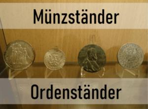 Münzständer Ordenständer