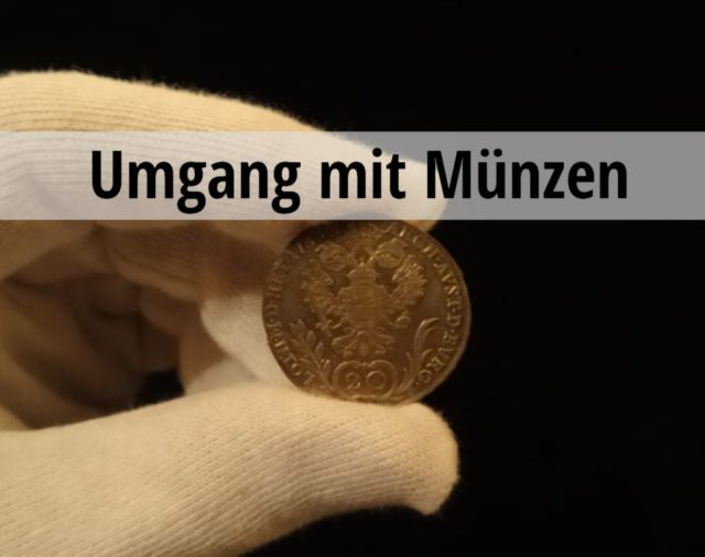 Richtiger Umgang Münzen