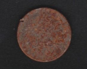 01 verrostete Eisenmünze
