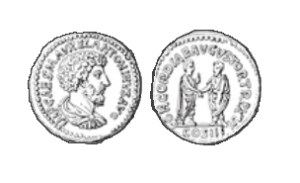 antike Bronzemünze