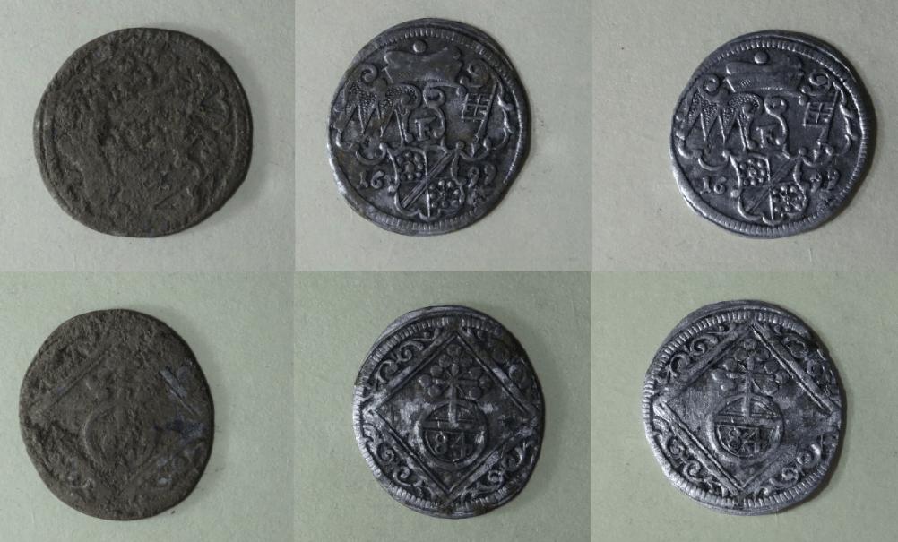 Münzen reinigen Ultraschall vorher nachher