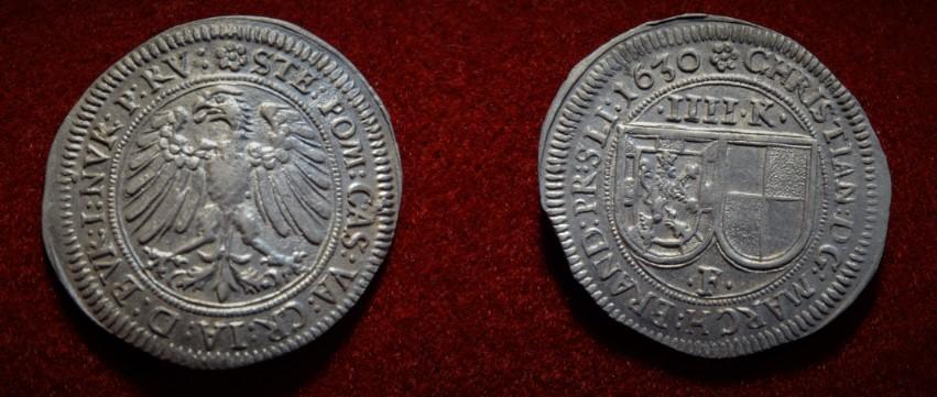 Christian, 1603-1655. 4 Kreuzer (Batzen) 1630, Nürnberg