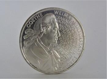 Was sind Gedenkmünzen - Goethe